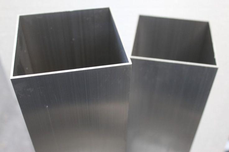 Vierkantrohr Alu Profil Steher Pfosten 100x100mm Zaunpfosten Zaunsteher