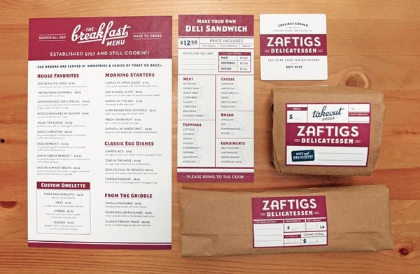 Deli branding #branding Love ItBrand Identity, Zaftig Delicatessen, Menu, Brand Design, Graphics Design, Brand Brand, Vintage Design, Food Brand, Deli Brand