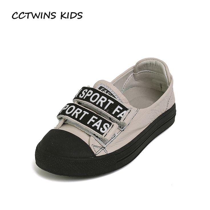 CCTWINS KIDS 2017 Children Boy Black Trainer Kid Sport Flat Baby Girl White Sneaker Toddler Fashion Genuine Leather Shoe F1575 #Affiliate