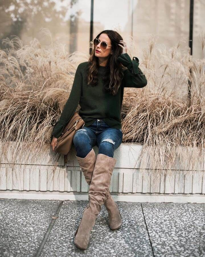 How to Wear Thigh High Boots Without Looking Trashy | Fall