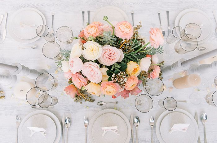 Neutral Decor with Color Pastel Flowers