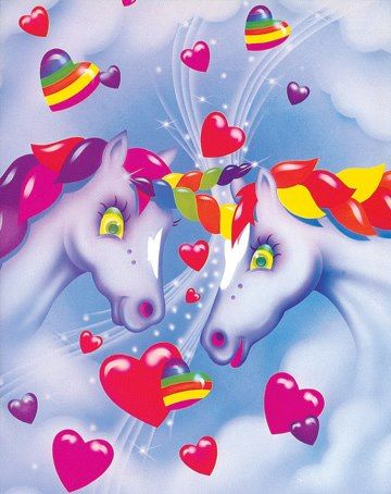 Lisa Frank-I had this folder! :)  Lisa Frank folders and Trapper Keepers...you couldn't get better than that. ;)