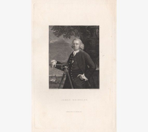 James Brindley portrait engraving