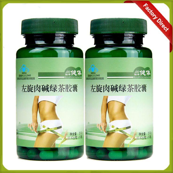 2 Butelki Zielone Herbaty l karnityna Kapsułki Utratę Tłuszczu Spalanie Tłuszczu Cienkie