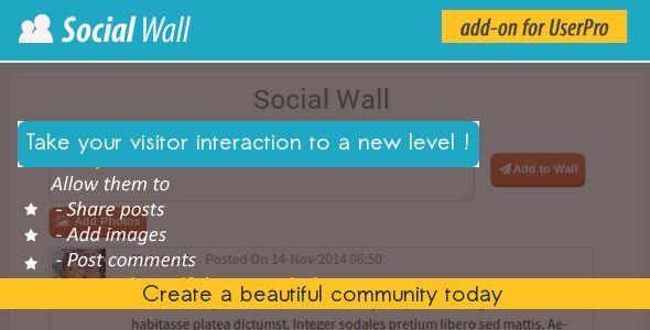 Social Wall Addon for UserPro v1.3
