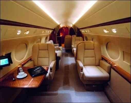 Steve Jobs - Gulfstream V - Interior