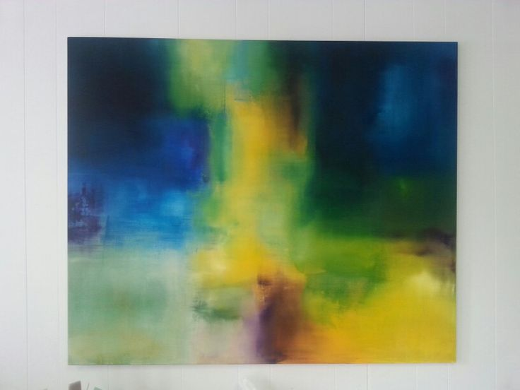 Abstrakt 100x120 by artist Silja Skag.