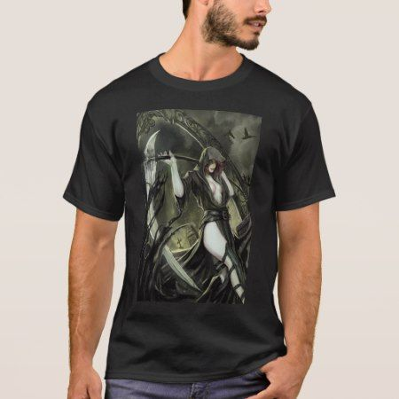No Tomorrow #1B Grim Reaper Keres Goddess of Death T-Shirt - tap, personalize, buy right now!
