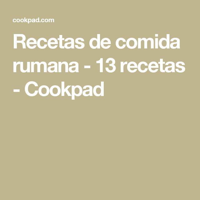 Recetas de comida rumana - 13 recetas - Cookpad