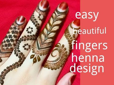 2 Classic DIY Fingers Henna Design//How to Make Easy Finger Mehndi Designs || follow simple step - YouTube