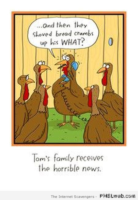Funny Turkey Jokes | Thanksgiving funnies – A humoristic holiday treat | PMSLweb