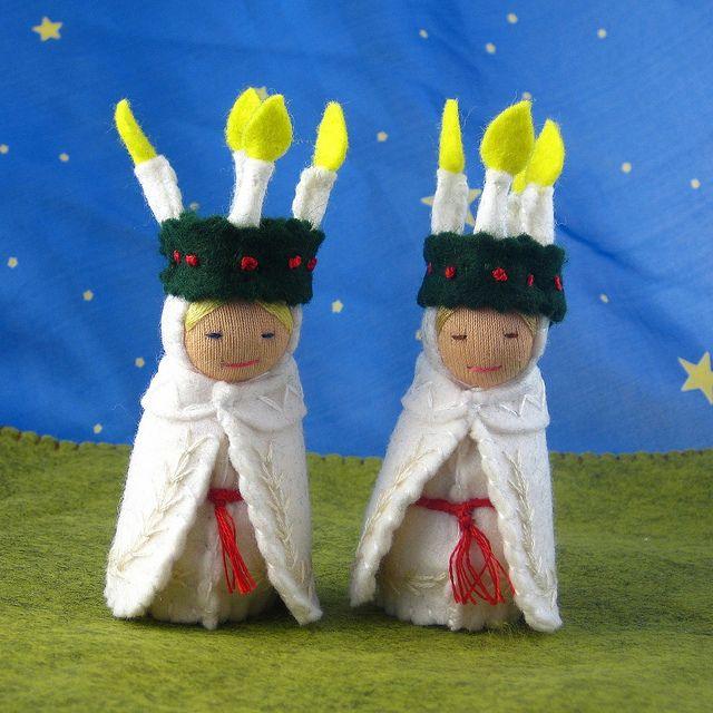 Two Santa Lucia/Saint Lucy dolls Oct 11 by Alkelda, via Flickr