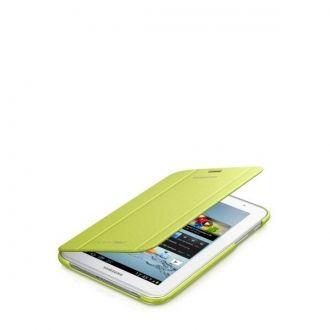 Oryginalne etui do Samsung Galaxy Tab 2 w wersji 7-calowej. Ochrania i zapewnia wygodę w codziennym użytkowaniu tabletu. Funkcja nachylenia ułatwia pisanie, oglądanie filmów lub zdjęć, gdziekolwiek jesteś.  Produkt w kolorze zielonym.