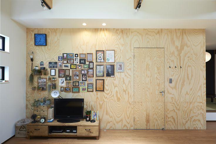 ラーチ合板の壁 More