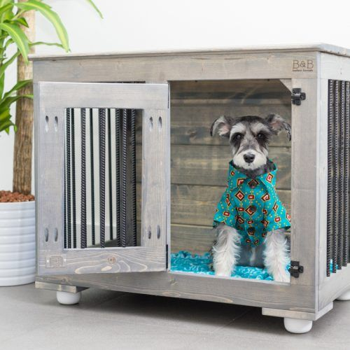 Wooden dog kennel for small dogs