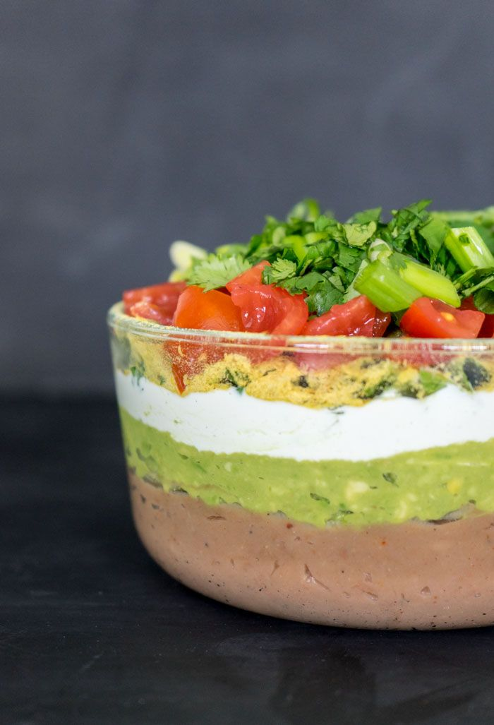 The BEST 7 Layer Dip - take the challenge and make this amazing dip from scratch (including the beans).
