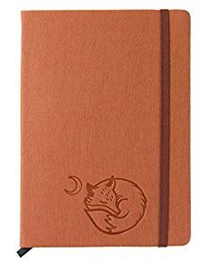 "Amazon.com : Red Co Journal with Embossed Fox, 240 Pages, 5""x 7"" Lined, Rust Orange : Office Products"