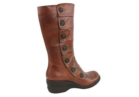 Miz Mooz Oracle Womens Leather Wedge Boots