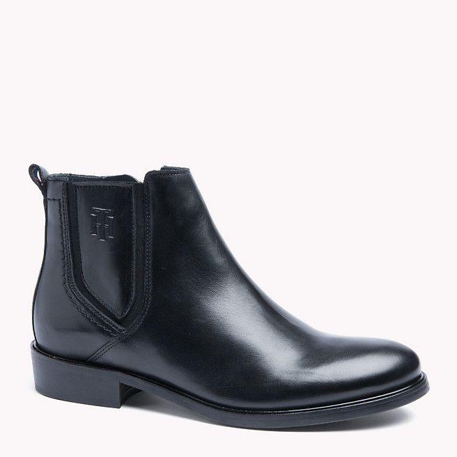 Tommy Hilfiger Leather Ankle Boot - black - Tommy Hilfiger Flat  - main image 169,90
