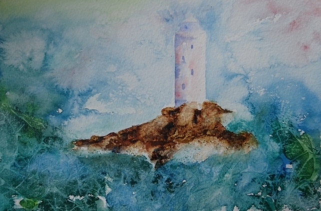 Watercolour Lighthouse  £40.00