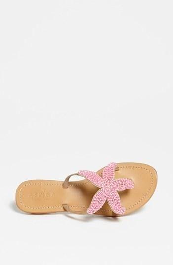 Sweet Starfish Sandals cute for a Nautical or Beach Theme!