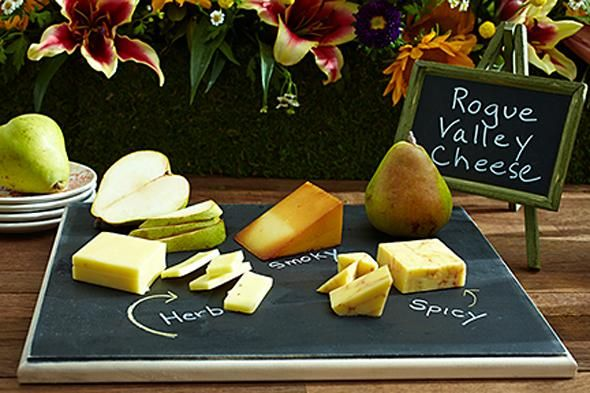 DIY Chalkboard Cheese Serving Tray. Easy and chic way to up your hosting game.