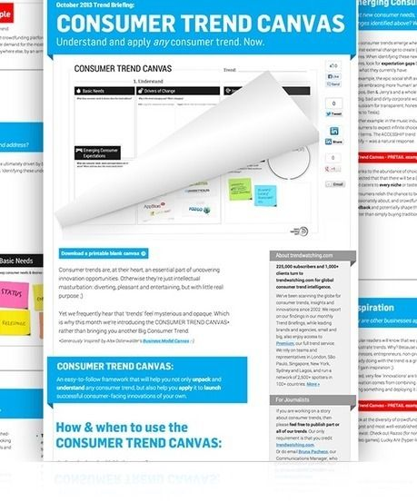 Identify Valuable Business Opportunities with the Consumer Trend Canvas   Online Business Models   Scoop.it