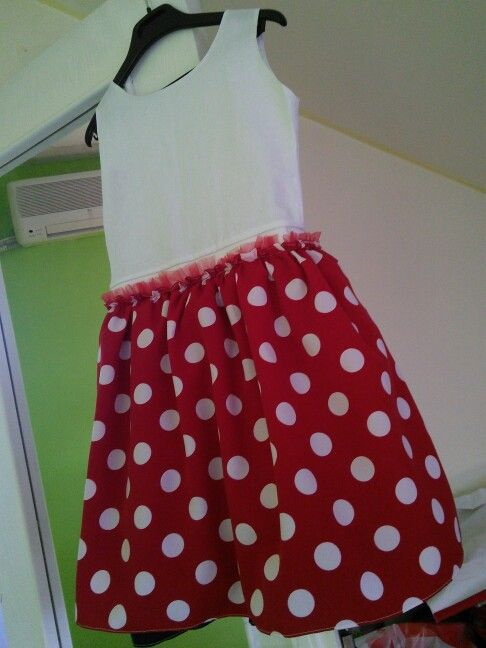 Easy minnie mouse dress 7 years old girl