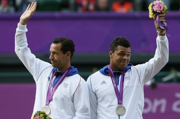 Mickaêl Llodra, Jo-Wilfried Tsonga: Médaille d'argent Tennis Double