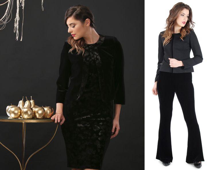 Beautiful Velvet Outfit! YOKKO | fall16 #velvet #gold #black #trousers #dress #jacket #fall #yokkoinspiration