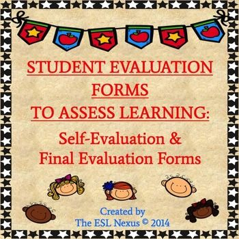 Student Self Evaluation Forms To Assess Projects, Curriculum Units, And  Courses