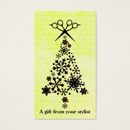 Hair salon stylist holiday coupon gift card xmas - hair salon gifts customize personalize ideas diy