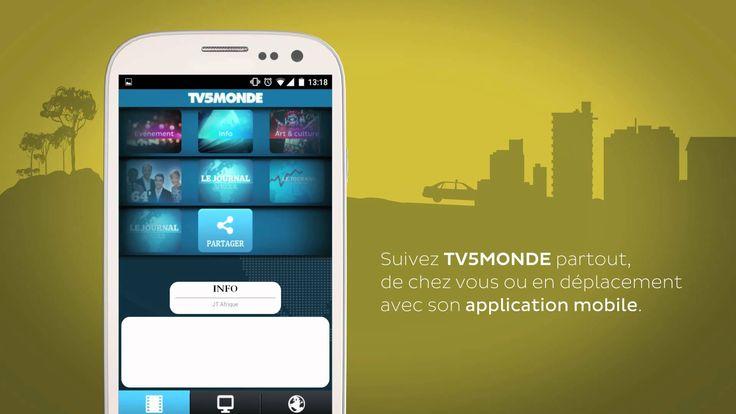 TV5MONDE partout avec vous depuis notre application mobile