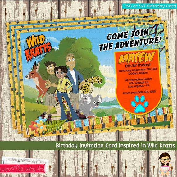 Hey, I found this really awesome Etsy listing at https://www.etsy.com/listing/167587905/wild-kratts-creature-power-birthday