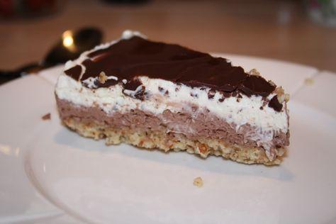 LCHF kremsjokoladekake med nøttebunn og sjokoladelokk, MMmmm « Ingrids Blogg