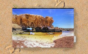 The Guardian, Two Rocks Carry-All Pouch design by Dave Catley featuring The…