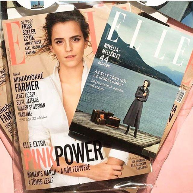 """Szerkesztőségünkbe már megérkezett az #áprilisi #ELLE magazin! Holnaptól az újságárusoknál is kapható #novella melléklettel melyben a """"Több nőt az irodalomba!"""" pályázat tíz kiválasztott művét olvashatjátok! #ellemagazin #ellehungary #emmawatson #newissue #april  via ELLE HUNGARY MAGAZINE OFFICIAL INSTAGRAM - Fashion Campaigns  Haute Couture  Advertising  Editorial Photography  Magazine Cover Designs  Supermodels  Runway Models"""