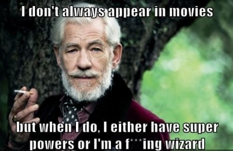Ian Mckellen, dont always appear in movies