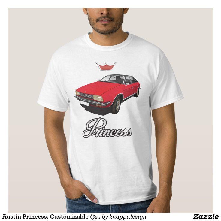 Austin Princess, Customizable (3x img) red DIY Tshirt  #austin #morris #princess #leyland #automobile #classic #tshirt #70s #red