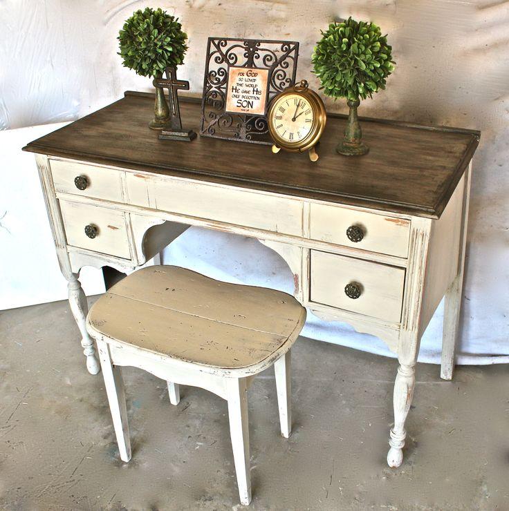 best 25 chalk paint desk ideas on pinterest chalk paint. Black Bedroom Furniture Sets. Home Design Ideas