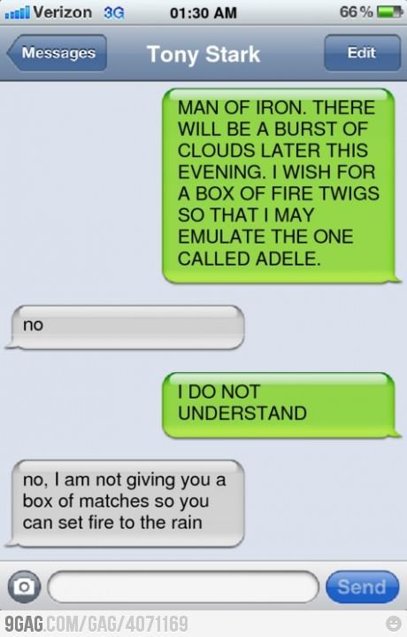 BAHAHAHA <3 I laughed so hard Internet Site,  Website, Avengers Texts, Web Site, Iron Man, Funny, Avengers Assembly, Thor Texts, The Avengers