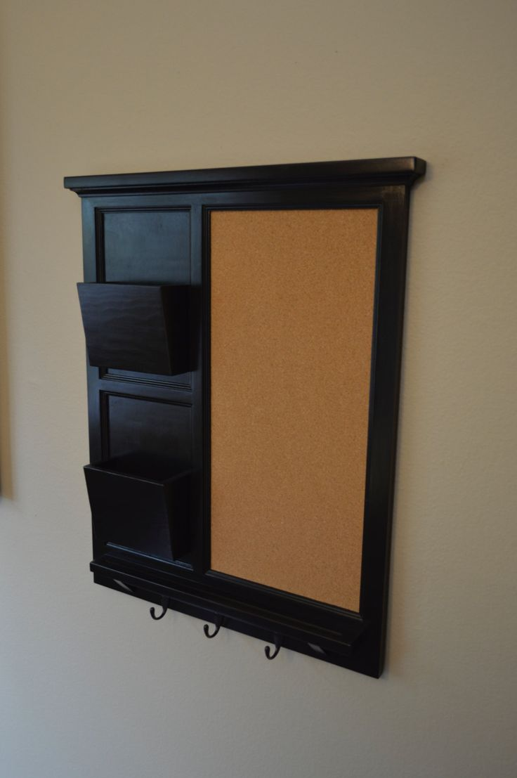42 best chalkboard organizers images on pinterest for Wall mail organizer with cork board