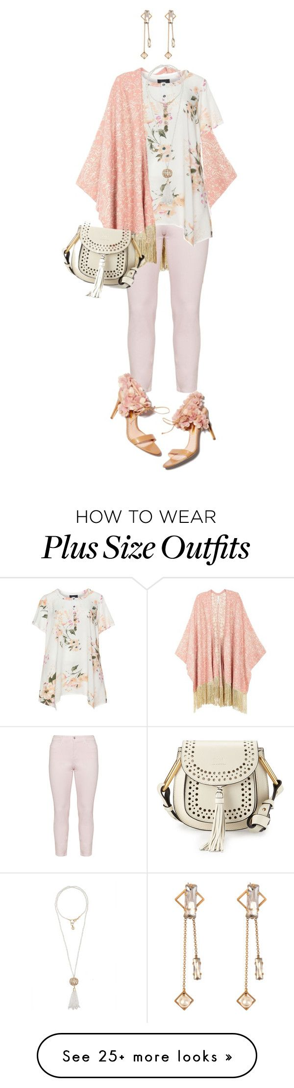 """""""Perfect Pink: Plus Size Spring"""" by jenmontreal on Polyvore featuring Melissa McCarthy Seven7, NYDJ, Zhenzi, Helene Zubeldia, Calypso St. Barth, Chloé, Rupert Sanderson and plus size clothing"""