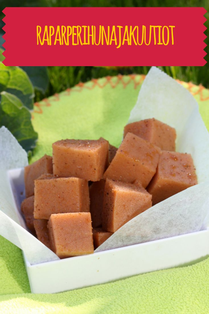 Elämänmakua maistelemassa/Karkkipäivä: Raparperihunajakuutiot // Rhubarb Honey Squares (no refined sugar, no milk, no nuts, no glutein)