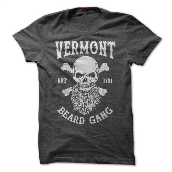 VERMONT BEARD GANG - #hooded sweatshirts #blank t shirt. ORDER HERE => https://www.sunfrog.com/LifeStyle/VERMONT-BEARD-GANG.html?60505