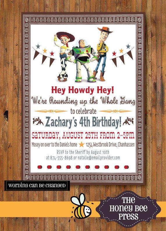 Toy Story Birthday Invitation ... Hey Howdy Hey Woody Birthday Party Invitation - 0069WOODY on Etsy, $15.00
