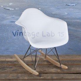 Kinder Eames schommelstoel RAR junior wit