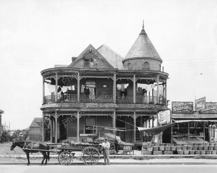 Victorian House With Pepsi Soda Signs 8x10 Reprint Of Old Photo