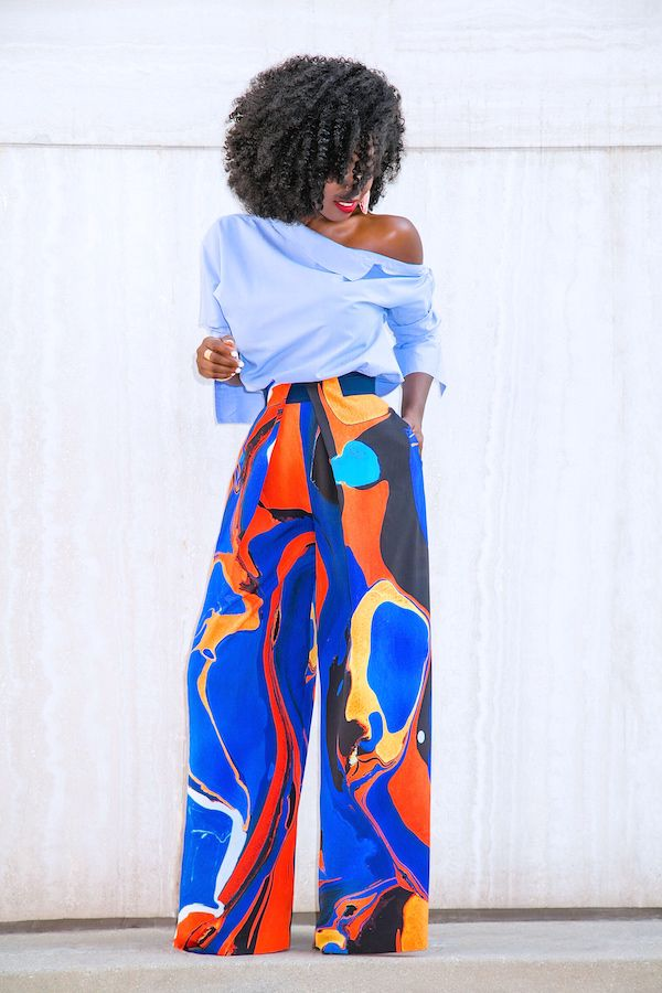Style Pantry | Deconstructed Shirt + Printed Palazzo Pants