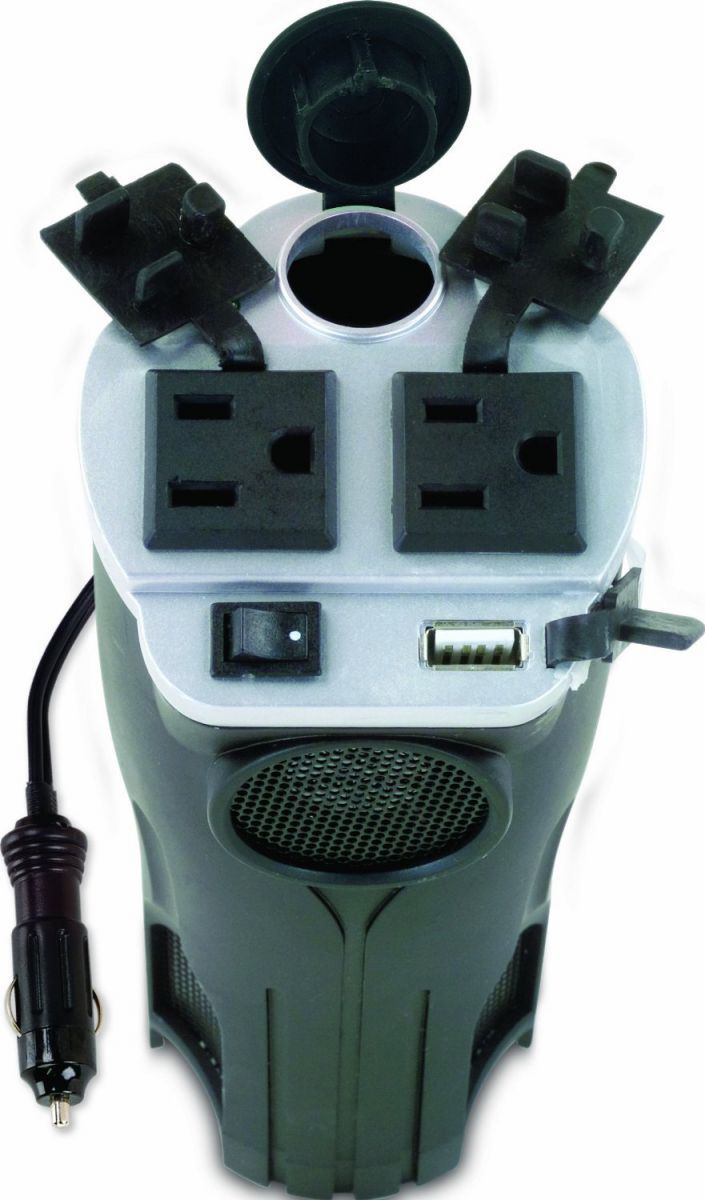 200 Watt Power Inverter Car Adapter charge and/or operate all your digital devices from this cup